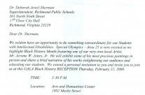 Letter: Special Olympics
